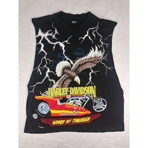 Harley Davidson Cut Off Shirt Tank Top L Vintage